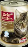 Dein Bestes mit Kaninchen & Truthahn in Sauce, fur Katzen, 400 g - с кроликом и индюком в соусе, для кошек, (Германия) 400гр.