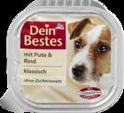 Dein Bestes mit Pute & Rind, klassisch, fur Hunde, 150 g - с индейкой и говядиной, классика, для молодых собак и взрослых (Германия)