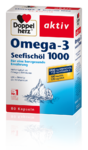 Витаминный комплекс Doppel herz Omega-3 Seefischol 1000 Kapseln - 80 капсул. по 1000мг масло морских рыб + 12мг Витамин Е. (Германия)