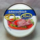 Традиционная консервированная ветчина Yano Schweinefleisch im eigenen Saft 300g  (Германия)