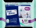 Sanft&Sicher Feuchtes Toilettenpapier Sensitive Classic Nachfullpackung, 70шт.- туалетные влажные бумага-салфетки для чувствительной кожи (Германия)