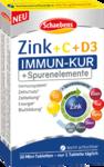 Витаминный курс 9 витаминов - Schaebens Zink (10mg)+ витамин C (80mg) + витамин D3 - таблетки для поддержки иммунной системы, защиты клеток и костей (Германия)