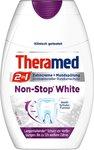 Зубная паста- ополаскиватель Theramed 2in1 Non-stop White с активным кислородом (Германия) 75 мл.
