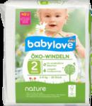 """Babylove nature Oko-Windeln """"№2 Mini"""" 3-6 kg - натуральные немецкие Эко подгузники для детей 3-6кг. (Германия) 42 шт."""